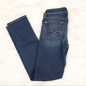 7 For All Mankind Roxanne straight leg jeans 25